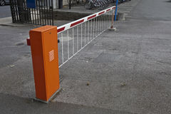 Closed parking barrier Stock Photography