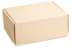 Closed pasteboard box Royalty Free Stock Photography