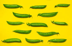 Closed pea pods. Royalty Free Stock Photos