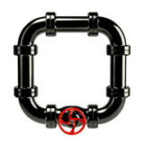 Closed pipe system loop Stock Photography