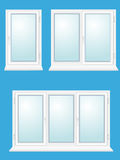 Closed plastic glass window  illustration Stock Images