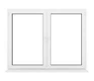 Closed plastic window. 3d closed plastic window on white background Royalty Free Stock Images