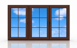Closed plastic window Royalty Free Stock Image