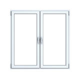 Closed plastic window. On white background Royalty Free Stock Images