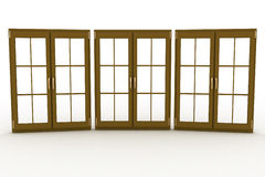 Closed plastic windows Royalty Free Stock Image