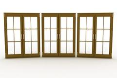 Closed plastic windows Royalty Free Stock Image