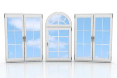 Closed plastic windows Stock Image