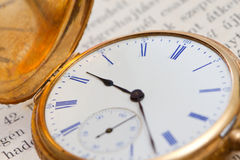 Closed pocket watch Stock Photo