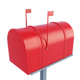 Closed postage mailbox. 3d rendering. Royalty Free Stock Image