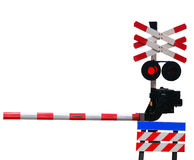 Closed railroad crossing Royalty Free Stock Image