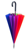 Closed Rainbow umbrella Stock Photography