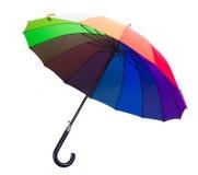 Closed Rainbow umbrella Stock Photo
