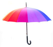 Closed Rainbow umbrella Royalty Free Stock Image