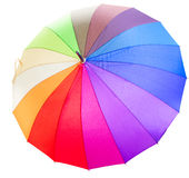 Closed Rainbow umbrella Royalty Free Stock Images