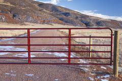 Closed ranch gate Royalty Free Stock Photography