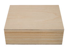 Closed raw wooden box for small items. Royalty Free Stock Photos