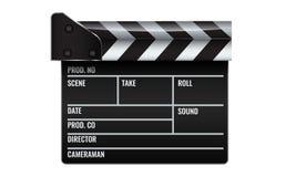 Closed realistic Cinema or film clapper. Illustrated vector. Closed realistic Cinema or film clapper. High detailed Illustrated vector Stock Image