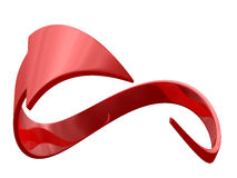 Closed red arrow on white background Stock Photos
