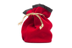 Closed red bag Royalty Free Stock Photo