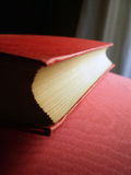 Closed red book Stock Photography