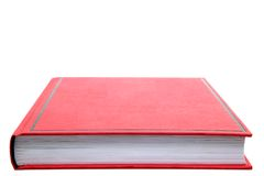 Closed Red book. Stock Photos