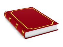 Closed red book on white background. Isolated 3D illustration stock illustration