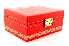 Closed red box Royalty Free Stock Photography