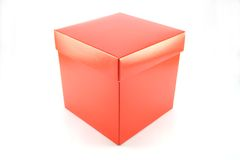 Closed red box. On white background Stock Images