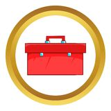 Closed red case vector icon Royalty Free Stock Images