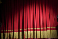 Closed red curtain Stock Photography