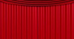Closed red curtain background Stock Image