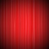 Closed red curtain lit Spotlight Royalty Free Stock Photos