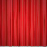 Closed red curtain lit Spotlight Royalty Free Stock Images