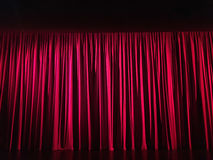 Closed red curtain on stage. Closed red curtain on stage Royalty Free Stock Photos
