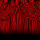 Closed red curtains Stock Images