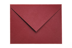 Closed Red Envelope. Isolated on White Background Royalty Free Stock Photo