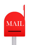 Closed red mail box Royalty Free Stock Image