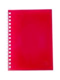 Closed red notebook isolated on white background Royalty Free Stock Photography