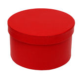 Closed red round box Royalty Free Stock Image