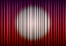 Closed red theater curtain Royalty Free Stock Image