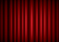 Closed red theater silk curtain Royalty Free Stock Photography