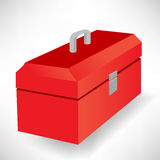 Closed red tool box Royalty Free Stock Images