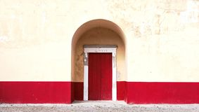 Closed Red Wooden Door during Daytime Stock Photo