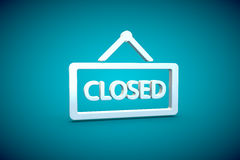 Closed render sign symbol graphix illustration. Closed  close render sign symbol graphix illustration blue Stock Photo