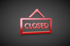 Closed render sign symbol graphix illustration Royalty Free Stock Photo