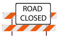 Closed road. An illustrator image is Closed road, traffic barrier Royalty Free Stock Photo