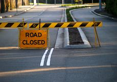 Closed road. Sign for drivers royalty free stock photos