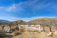 Closed Road Gate in California Stock Photo