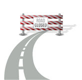 Closed road illustration design Royalty Free Stock Photo