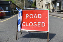 Closed Road Sign Royalty Free Stock Photography